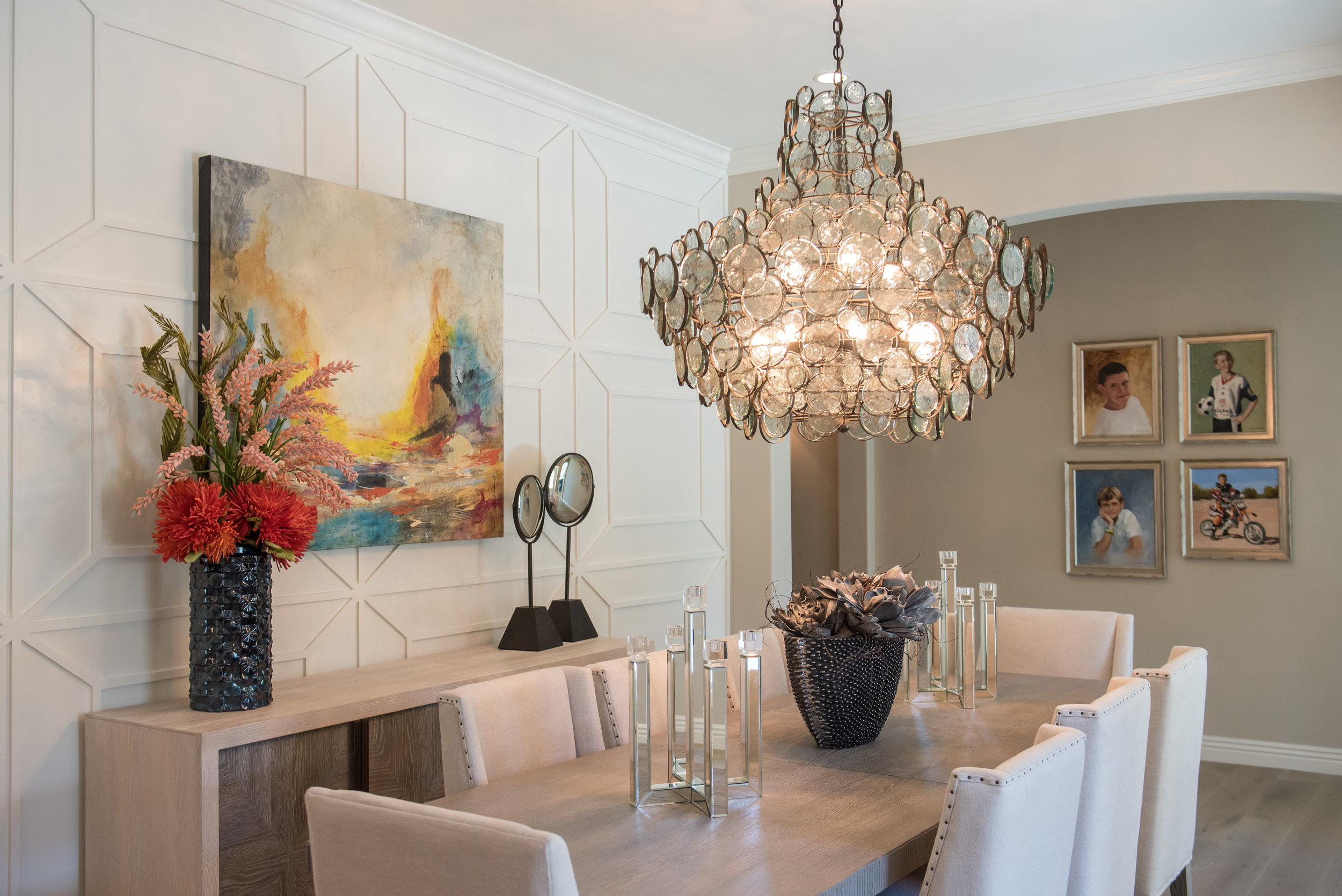 3 DiningRoom+Chandelier+Scottsdale+Transitional+Artwork+Linen+Wallpaneling.jpg