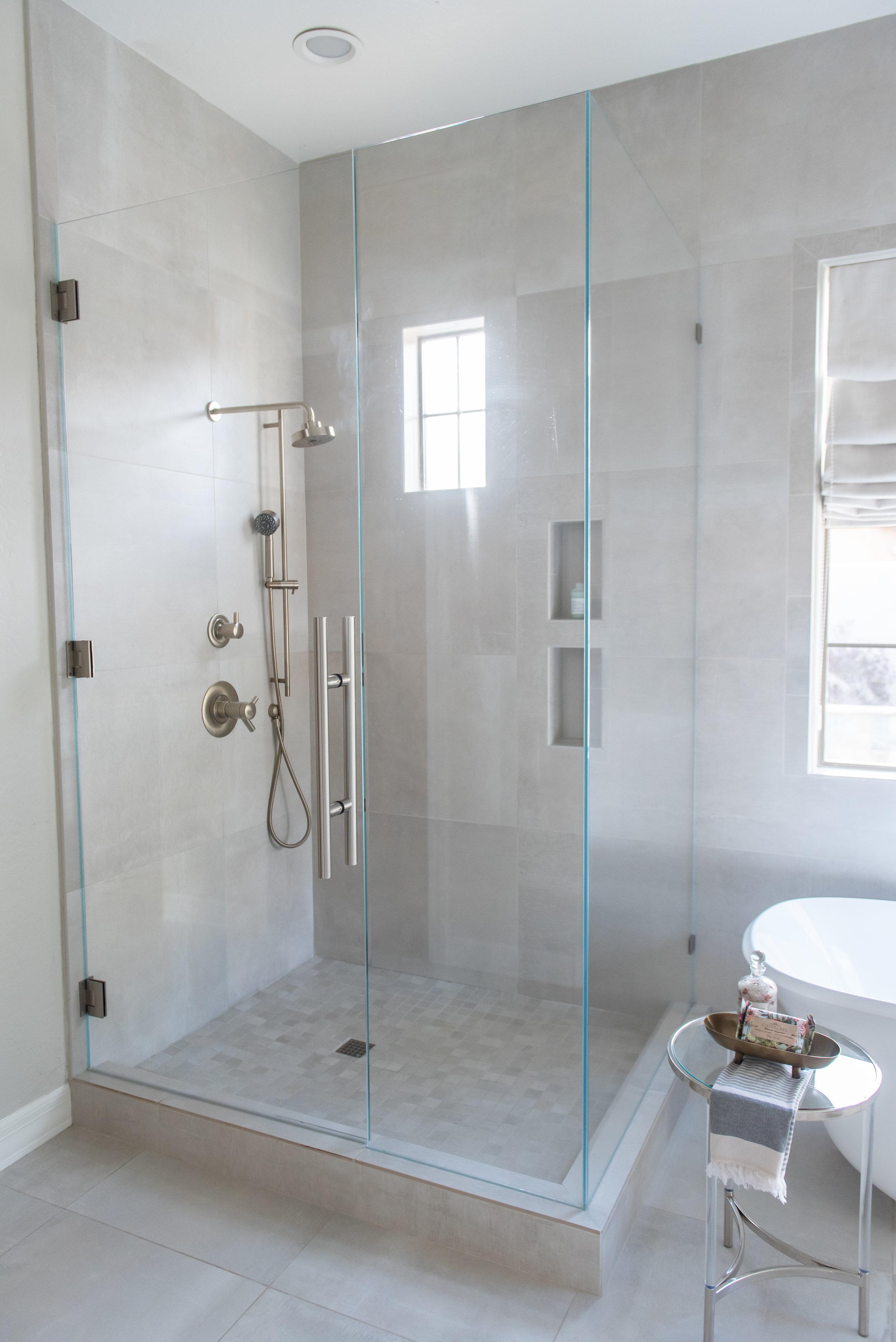 Master Bathroom +shower +Porcelain +tile +glass.jpg