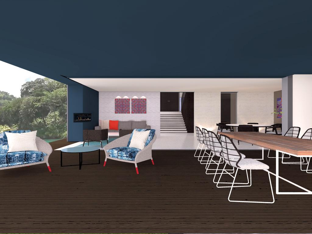 Interiores Para Casa En El Lago Techne 09