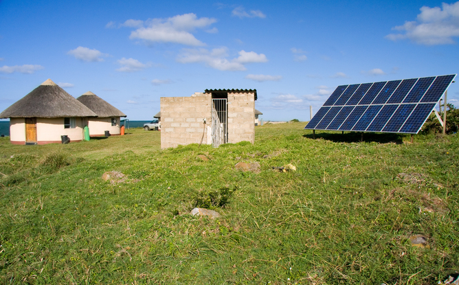 Solar energy is key to development in African countries.  Shutterstock