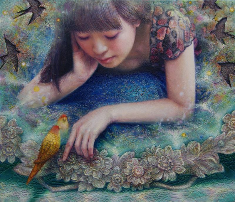 7 Songs / oil on canvas 53 x 45.5 cm