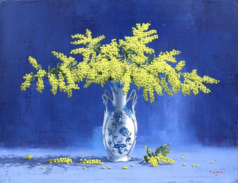 Mimosa Oil on canvas by Kenji Tamada