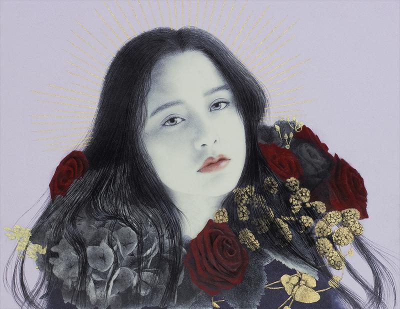 Eriko Shiga_Oil,Gold leaf on canvas