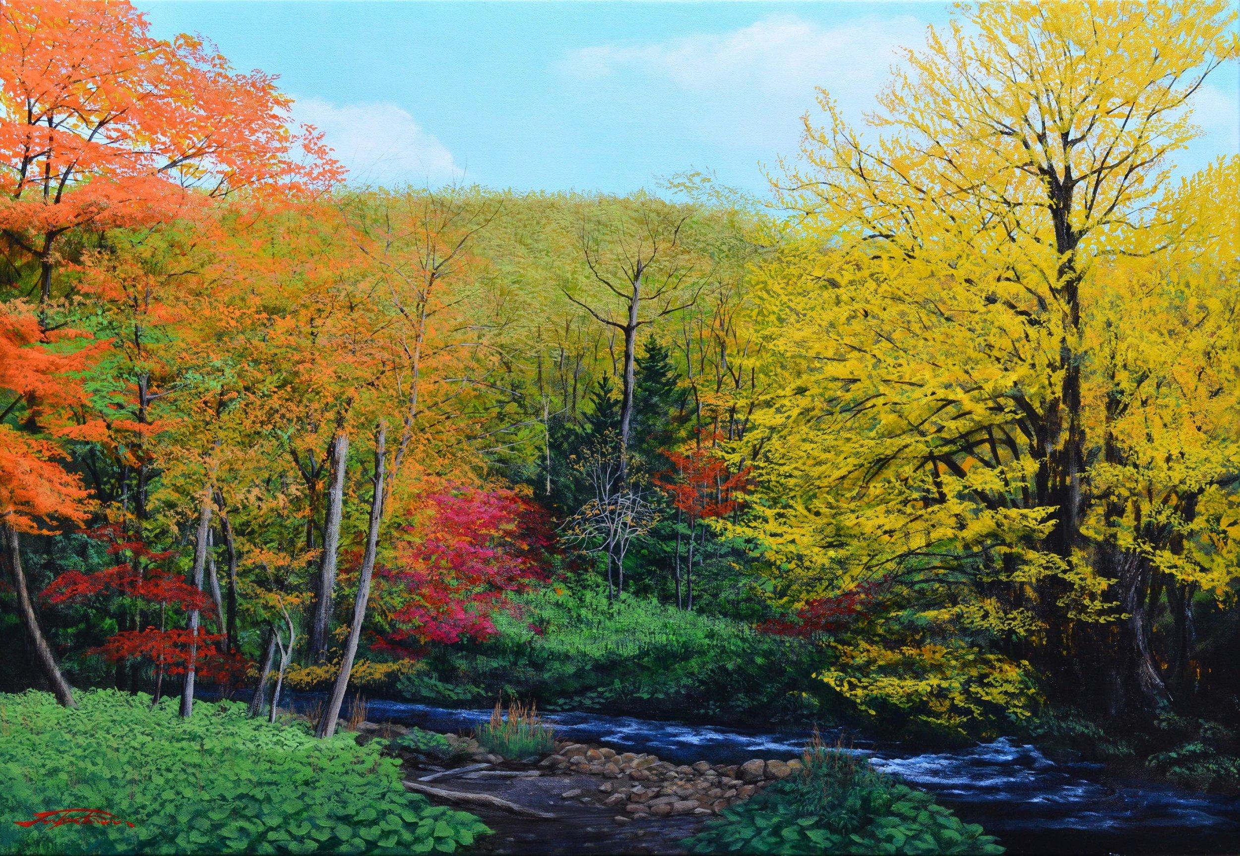 Landscape of Hokkaido _ Oil painting by Takayuki TSUKAHARA