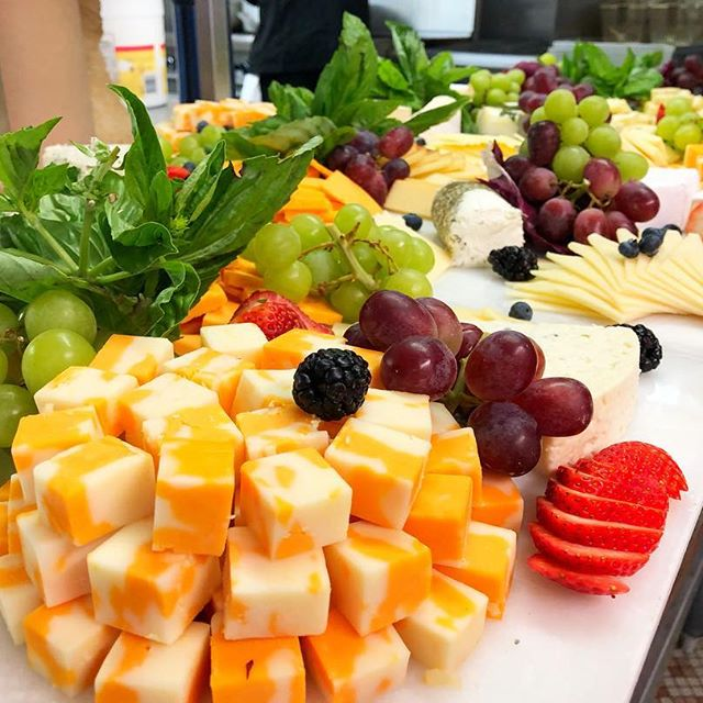 Colourful Cheese Platter