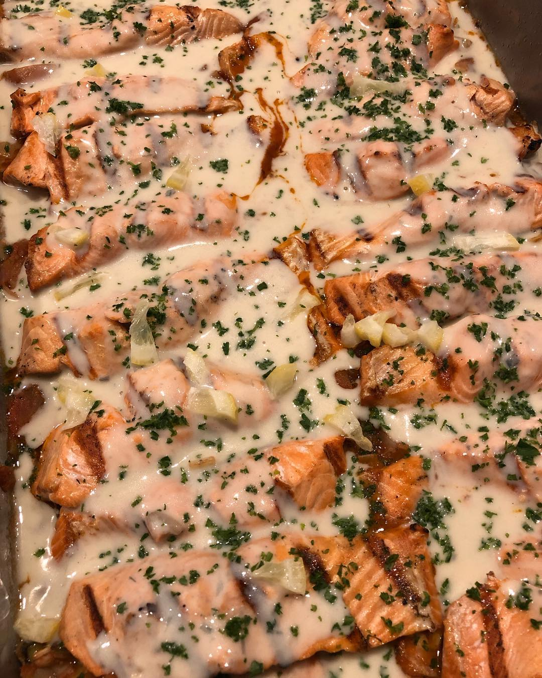 Salmon in Sauce -- Delicious!