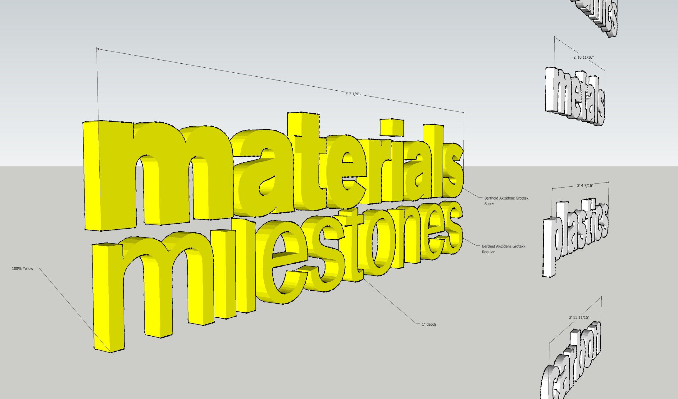 3D Titles Plan