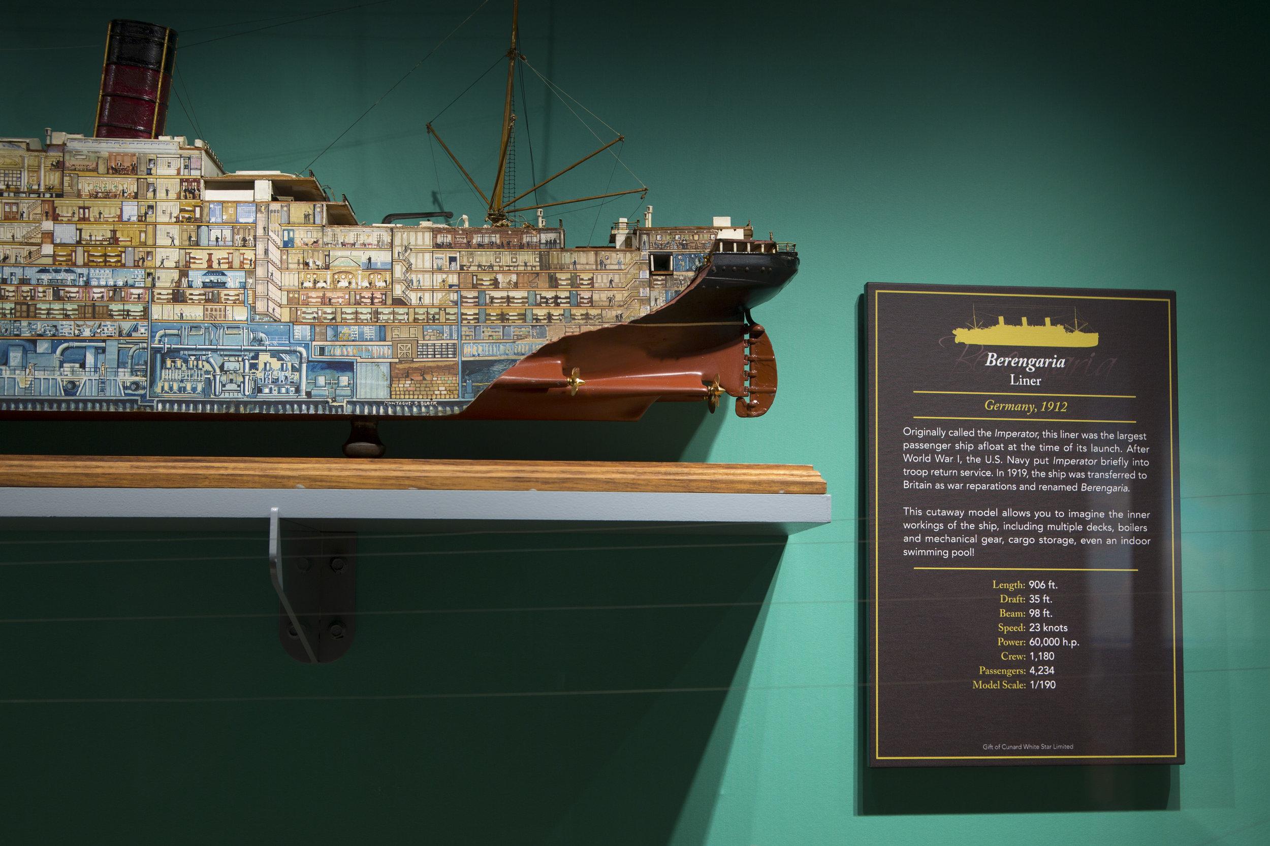 Ships Gallery - Berengaria Cut-Away