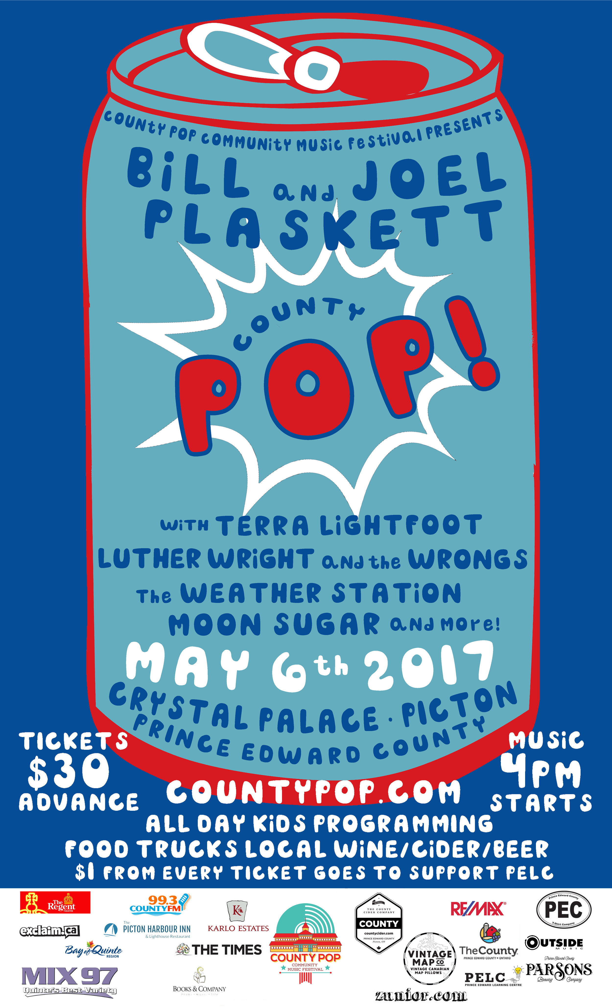 Our official 2017 event poster designed by Ken Hudson from County T-Shirts
