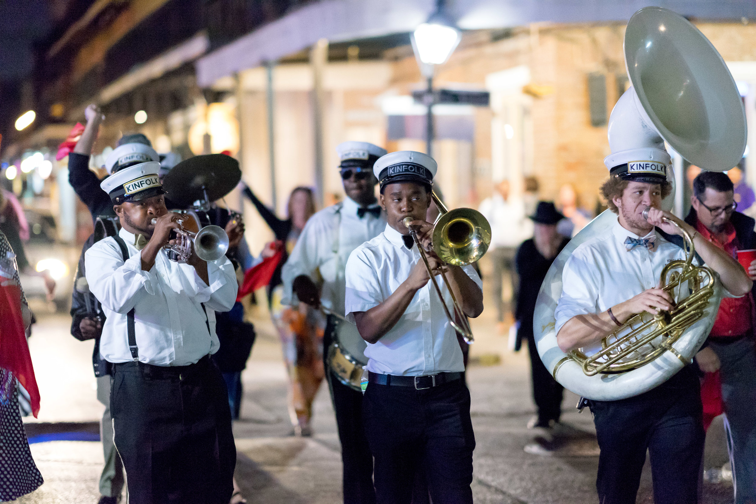 image of marching band for new orleans wedding by pensacola destination photographer