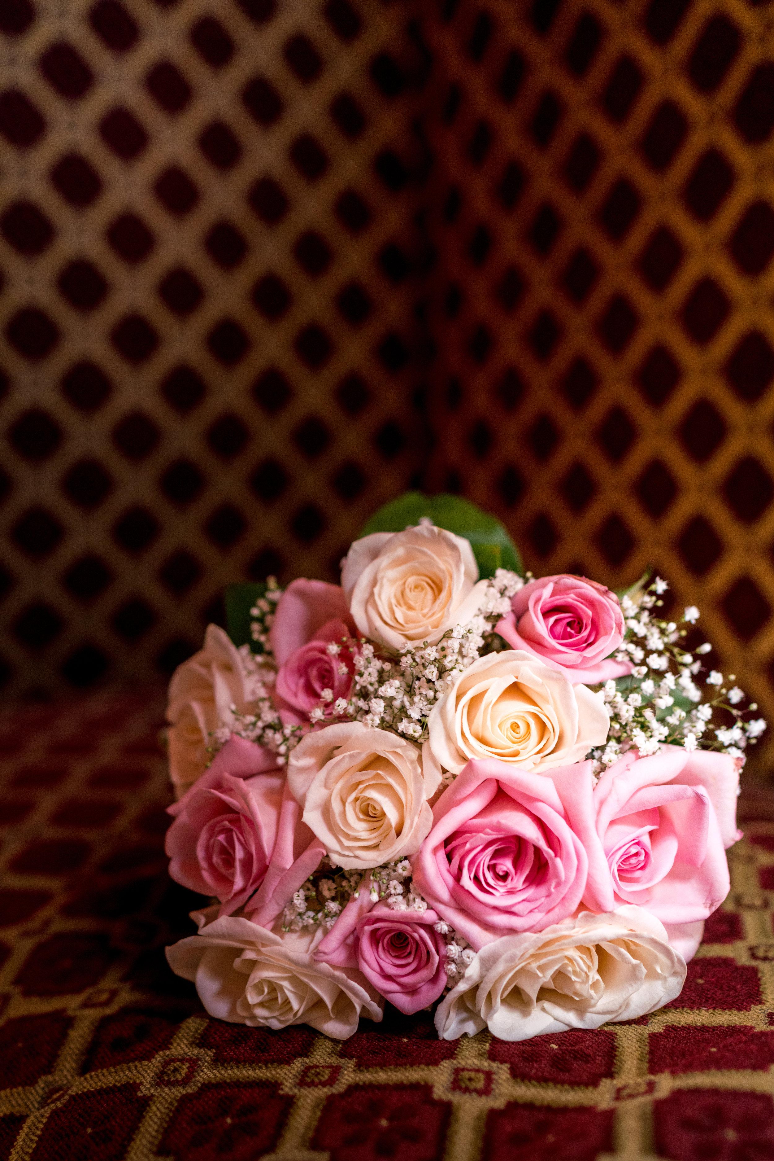 bouquet portrait