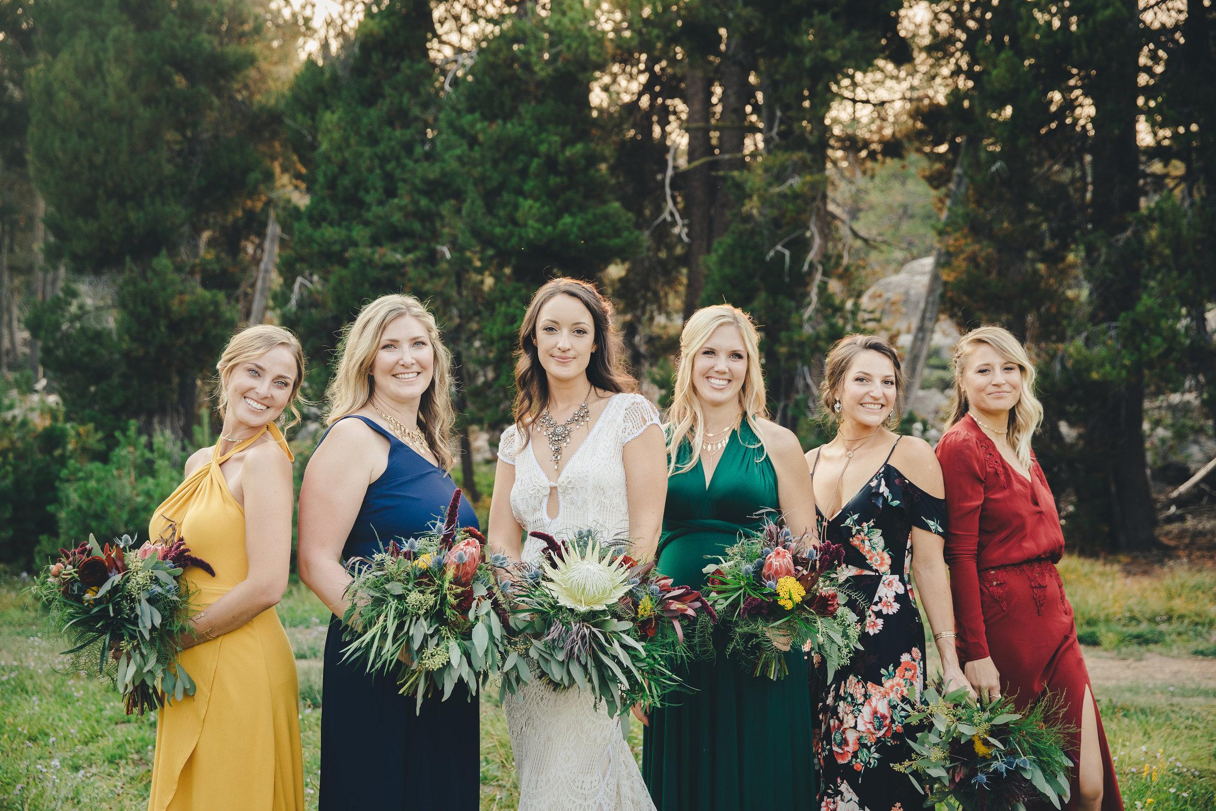 wedding bridal party bouquets flowers florist floral design san francisco oakland