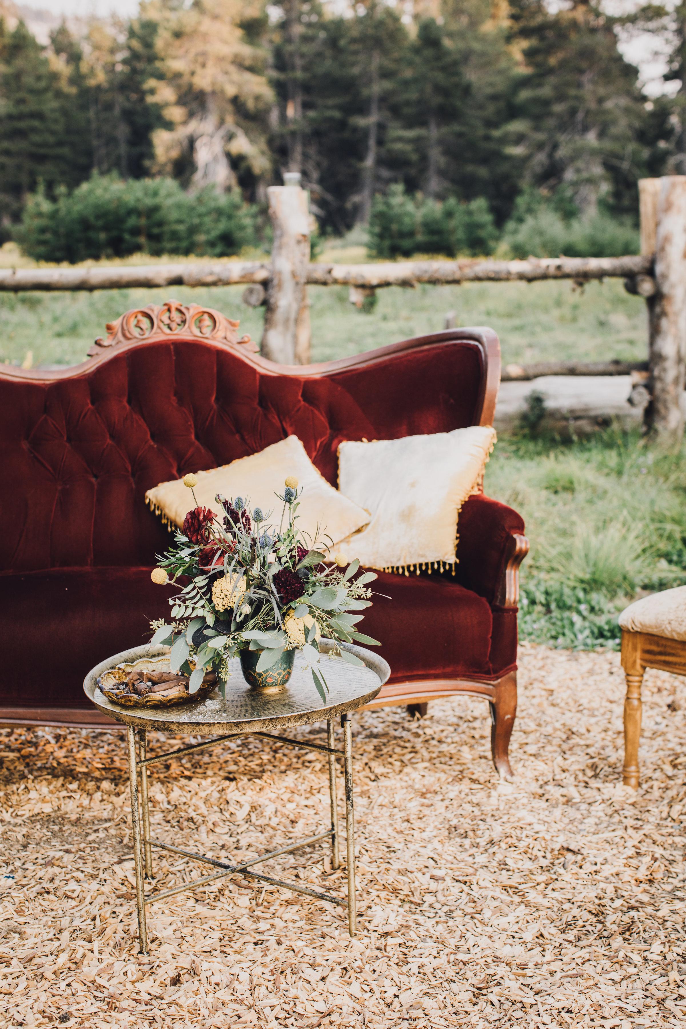 wedding decor table arrangement tahoe