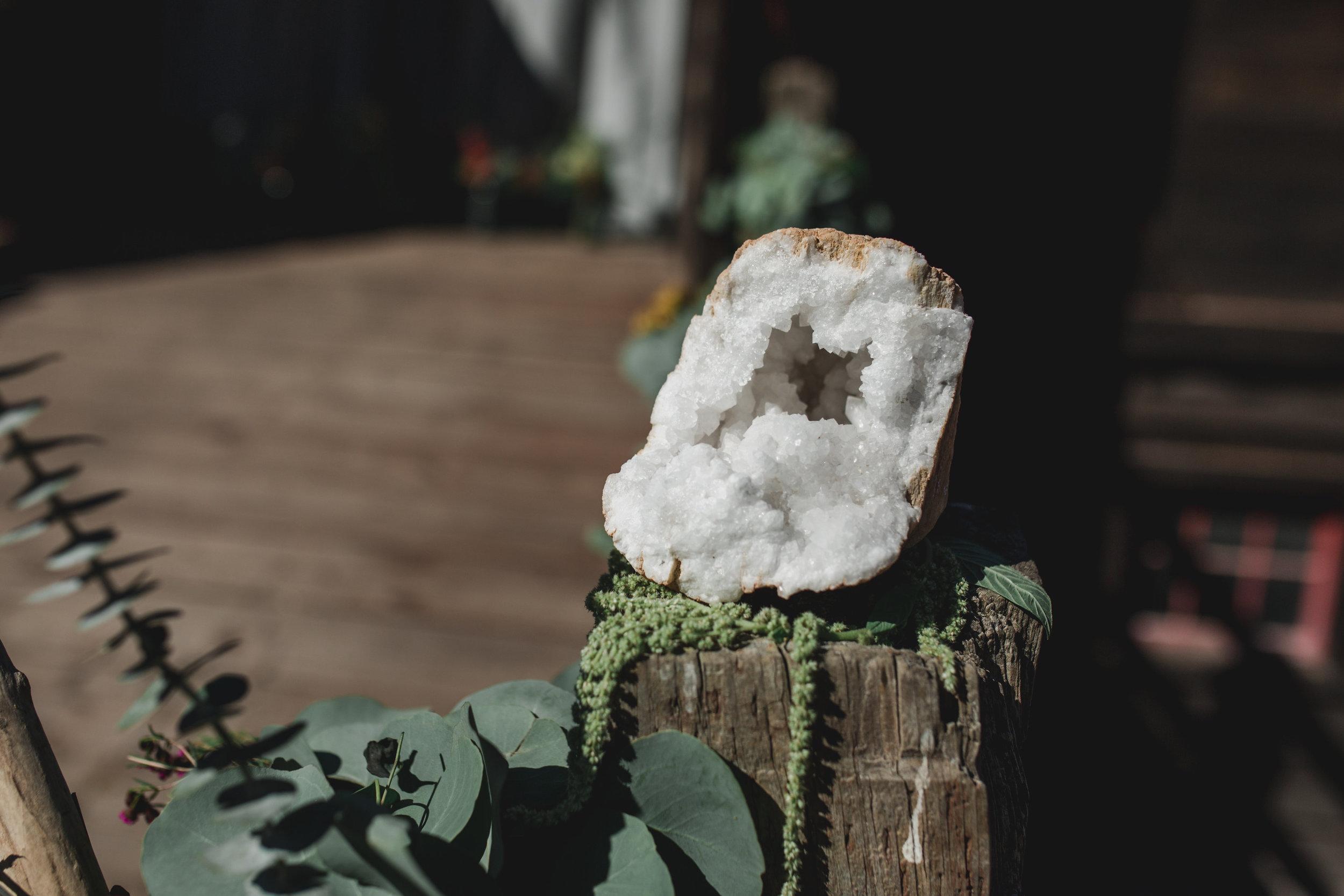 spirit stone medicine flowers altar