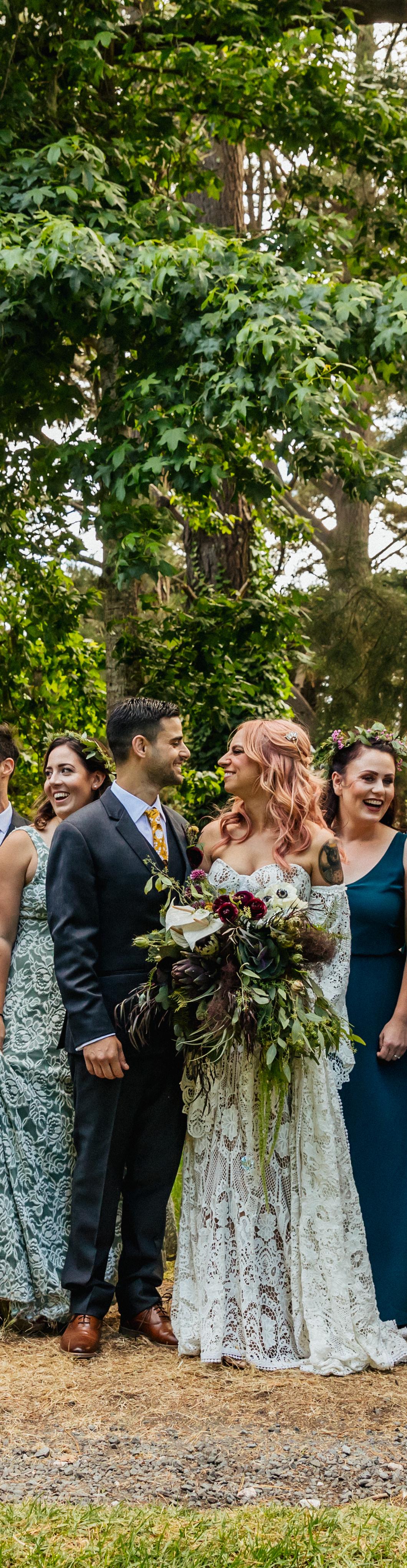 happy couple bridal bouquet wedding florist florals