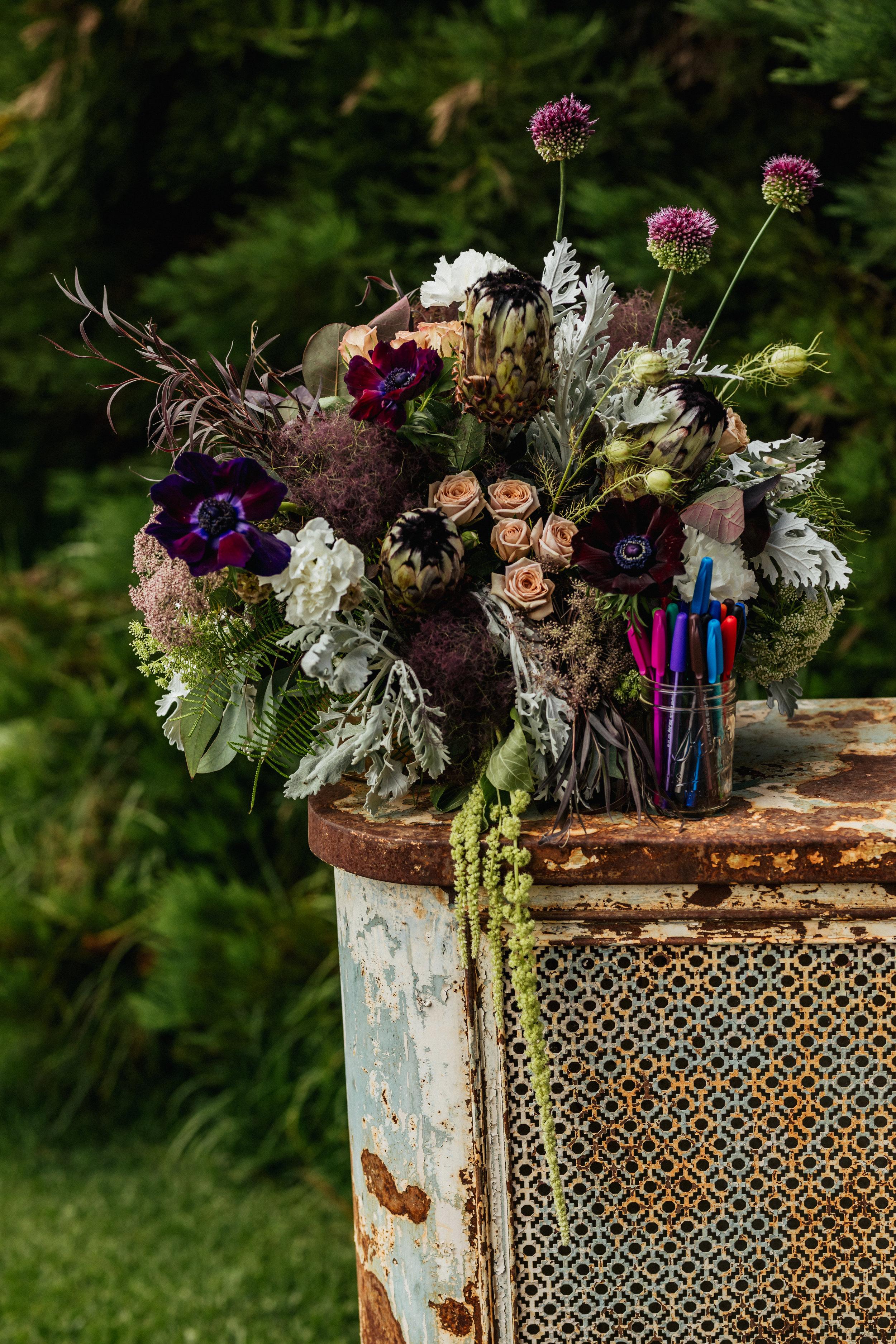 welcome arrangement flowers wedding florist florals