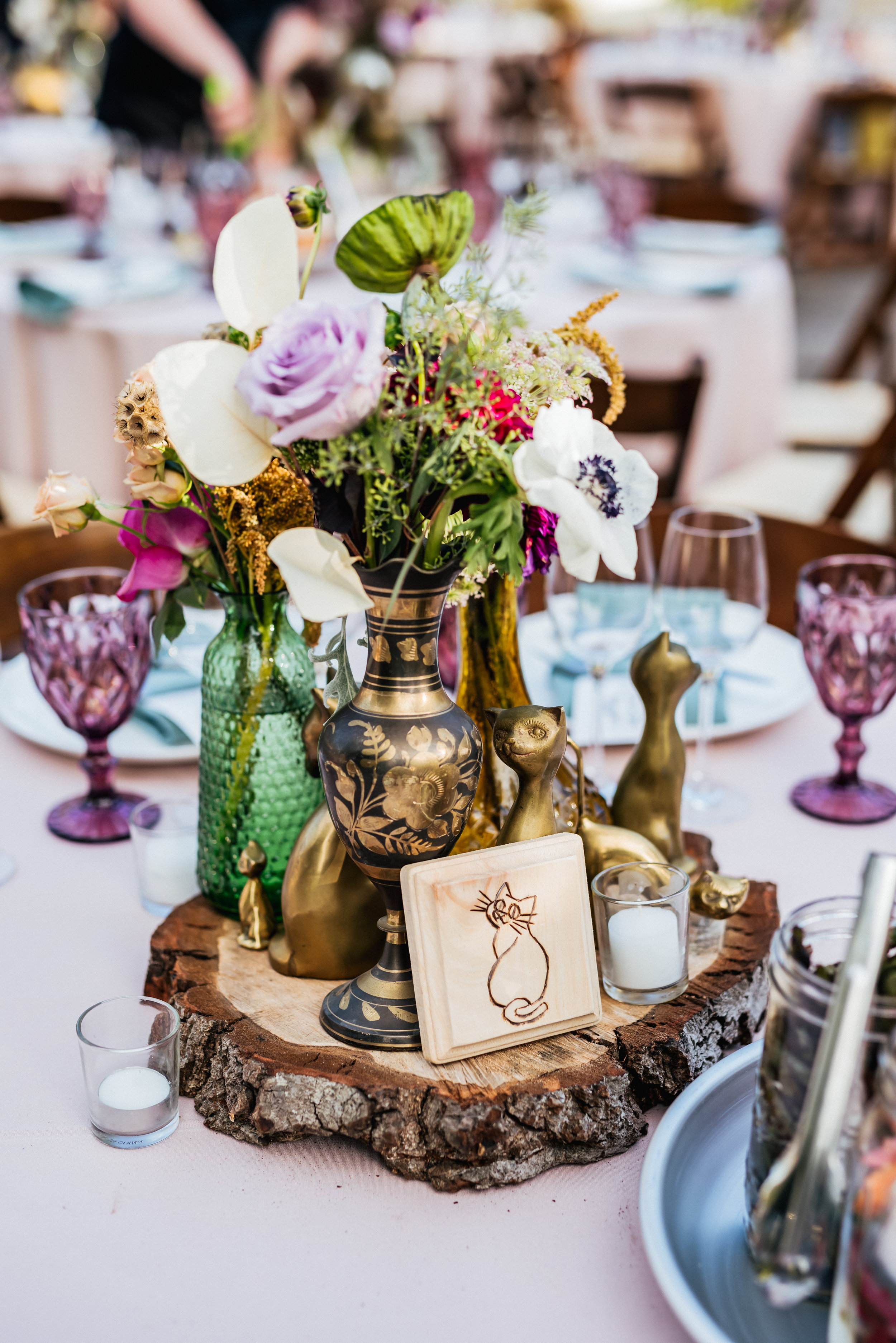 table settings wedding flowers oakland california