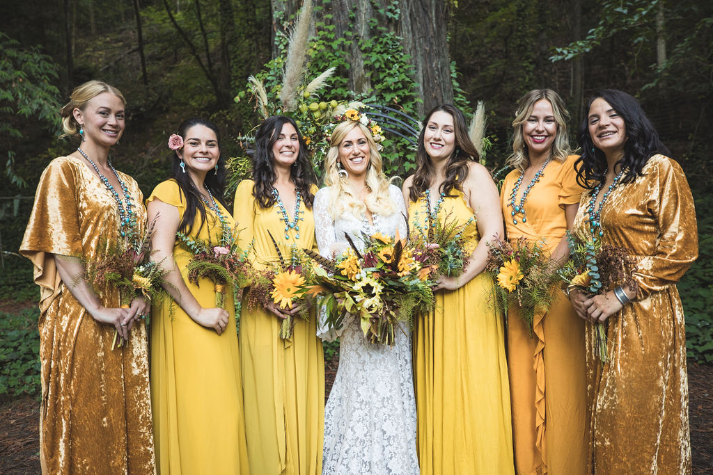 wedding party bouquets flowers floral design russian river