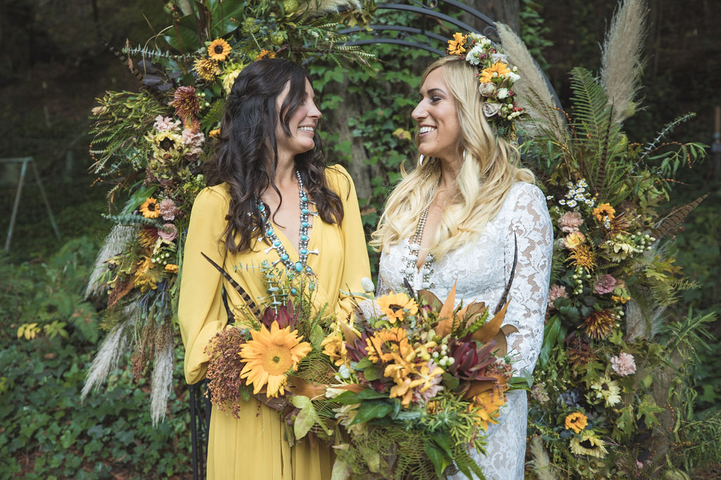 maid of honor bouquet russian river wedding