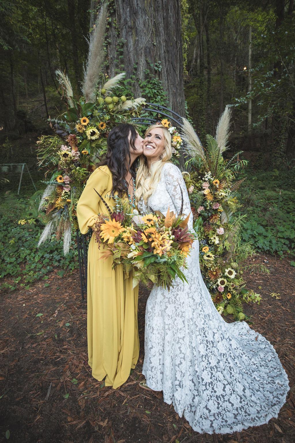 bohemian wedding flowers san francisco oakland bay area florist