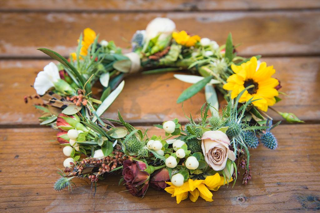 bridal crown flower crown wedding