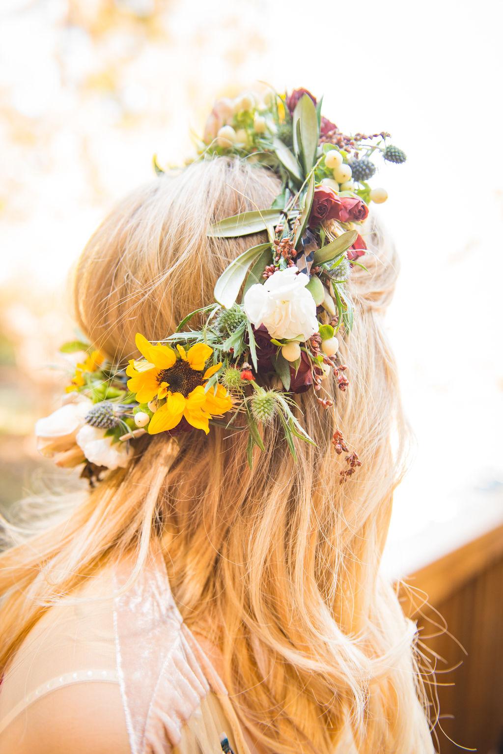 bridal crown flower crown wedding beautiful russian river california