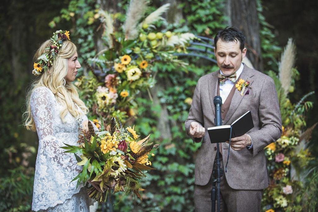 wedding officiant flowers floral design bloom florist