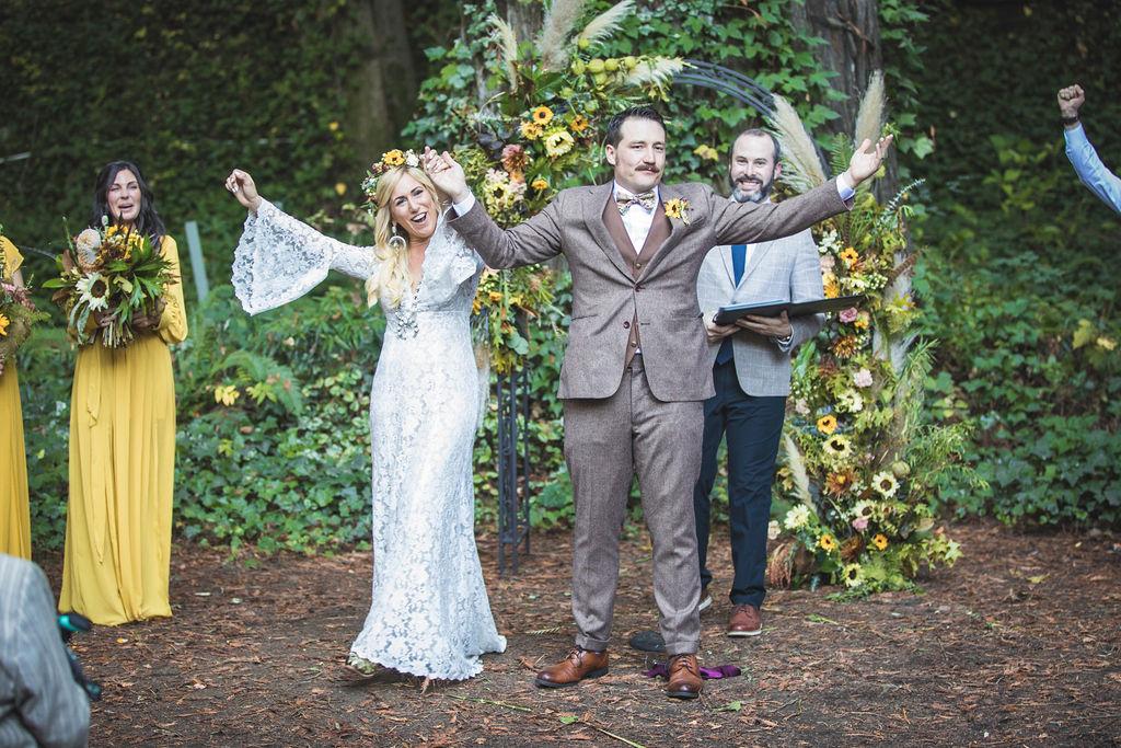 just married bloom generation florist floral design russian river wedding