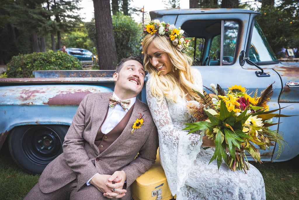 bridal bouquet boutonniere russian river wedding