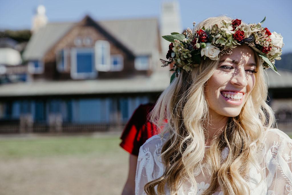 Beautiful Bride Flower Crown California Weddings