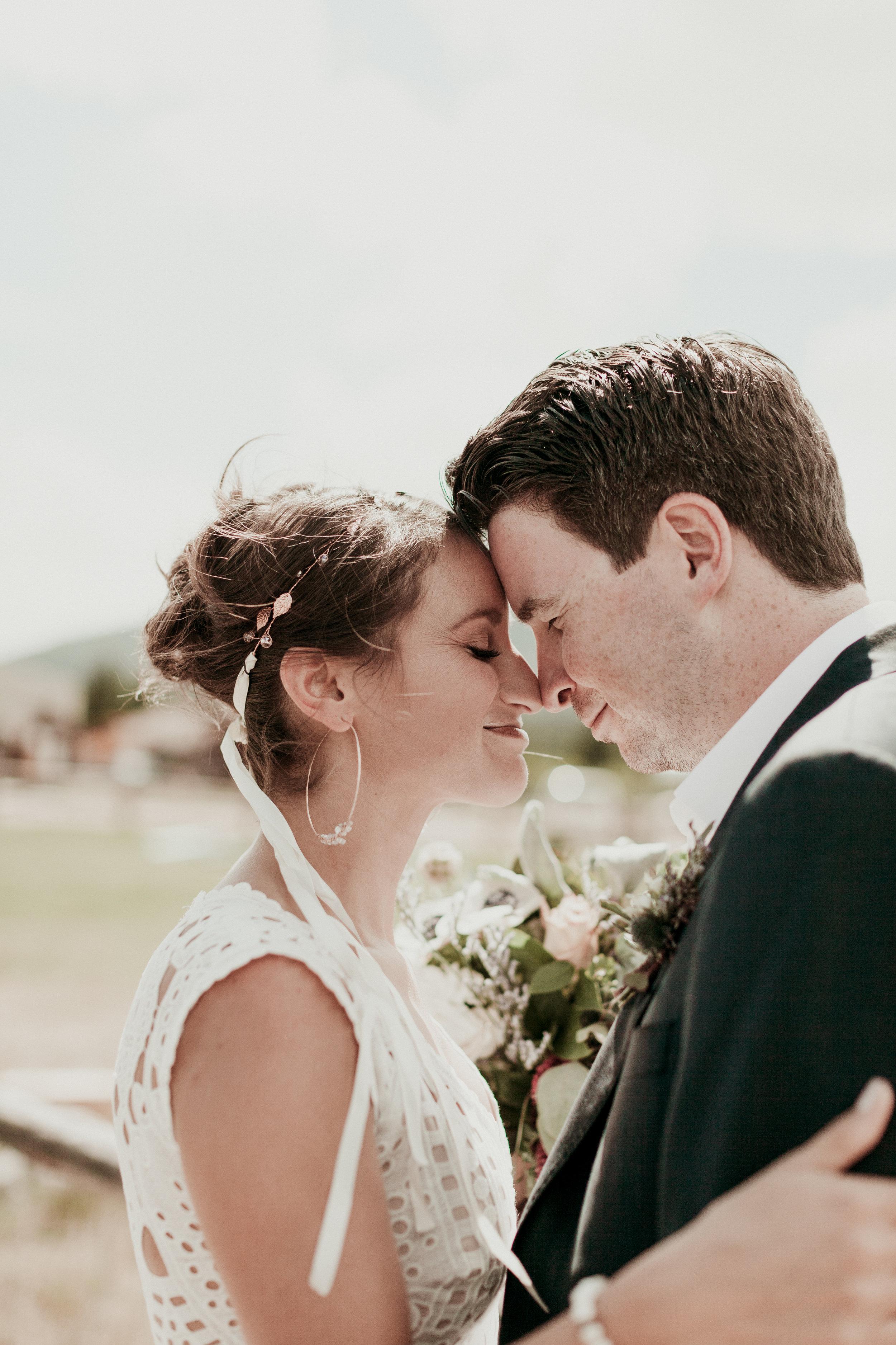 wedding couple just married florist gina baiamonte