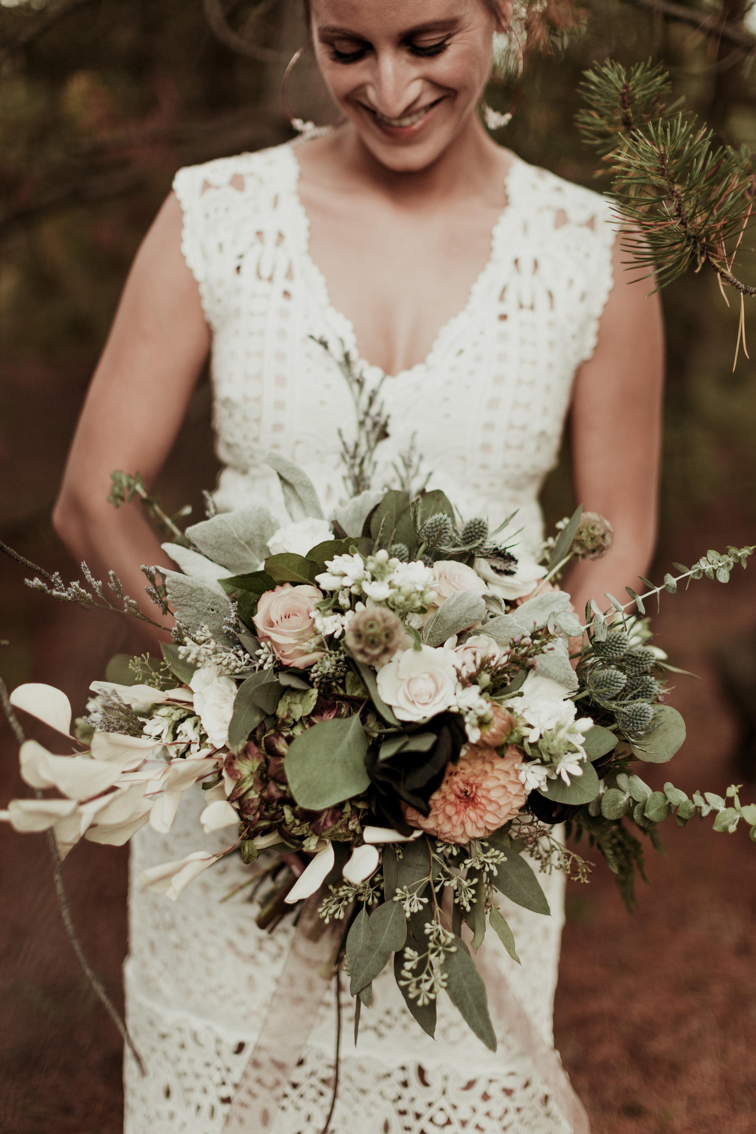happy bride floral design bloom generation