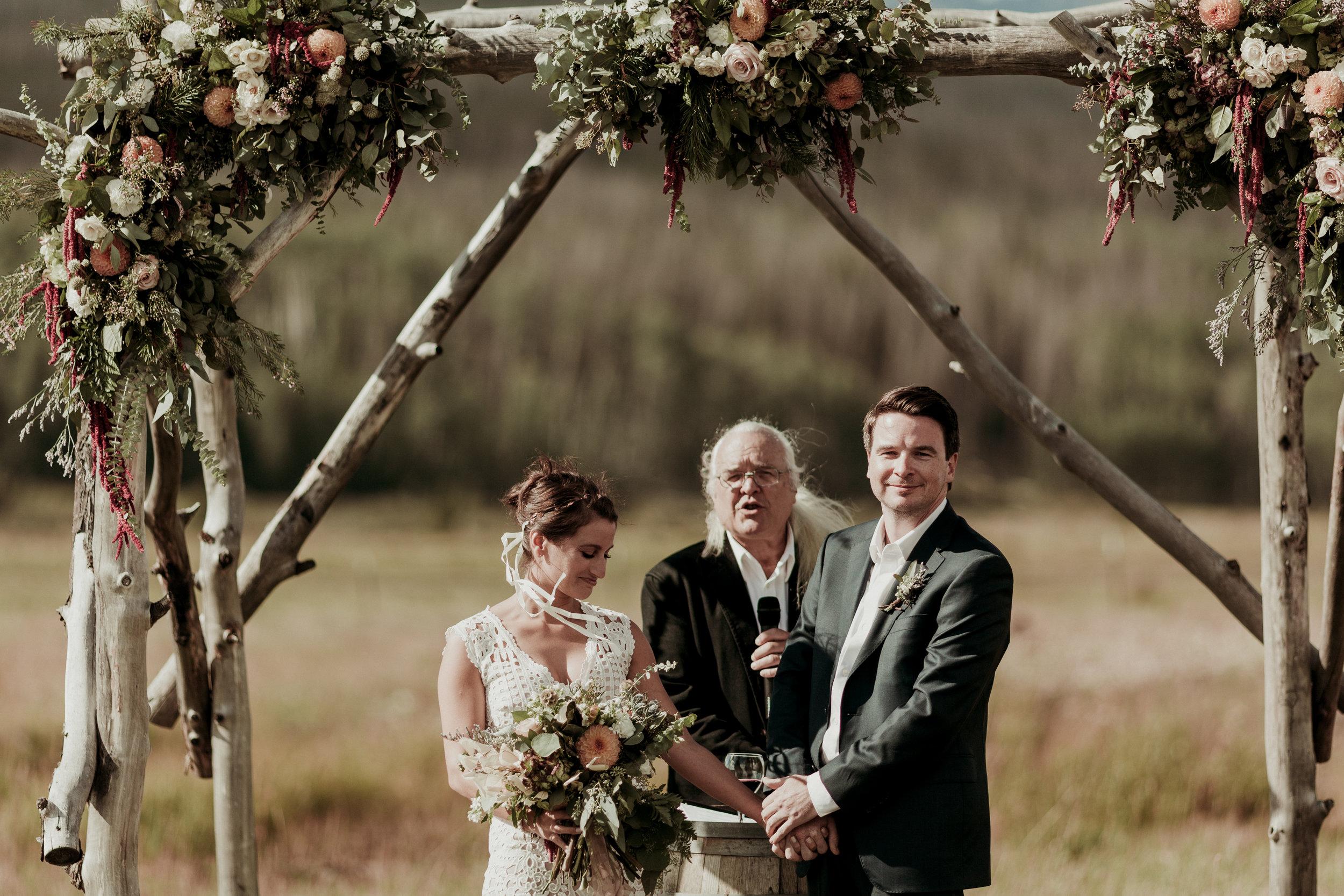 wedding altar wedding chuppah ceremony florals florist healing