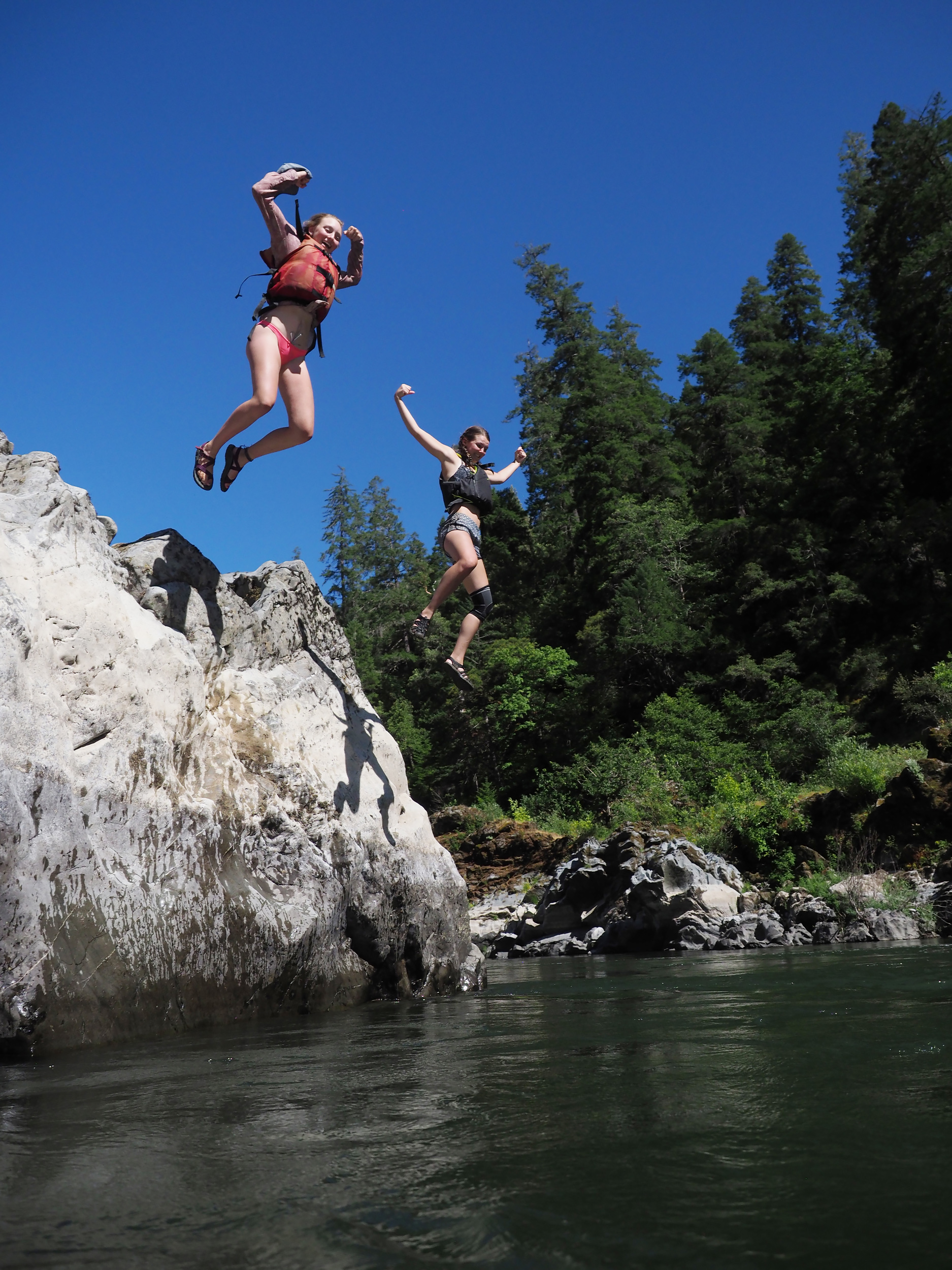 """Engaging in the excitement that comes inherantly with """"Curious play"""" on the Rogue River in Oregon Canyon of the Green River."""