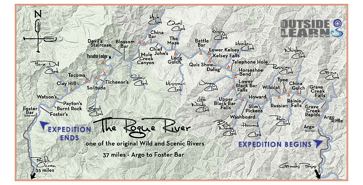 Rogue map created by our partners at ARTA River Trips.