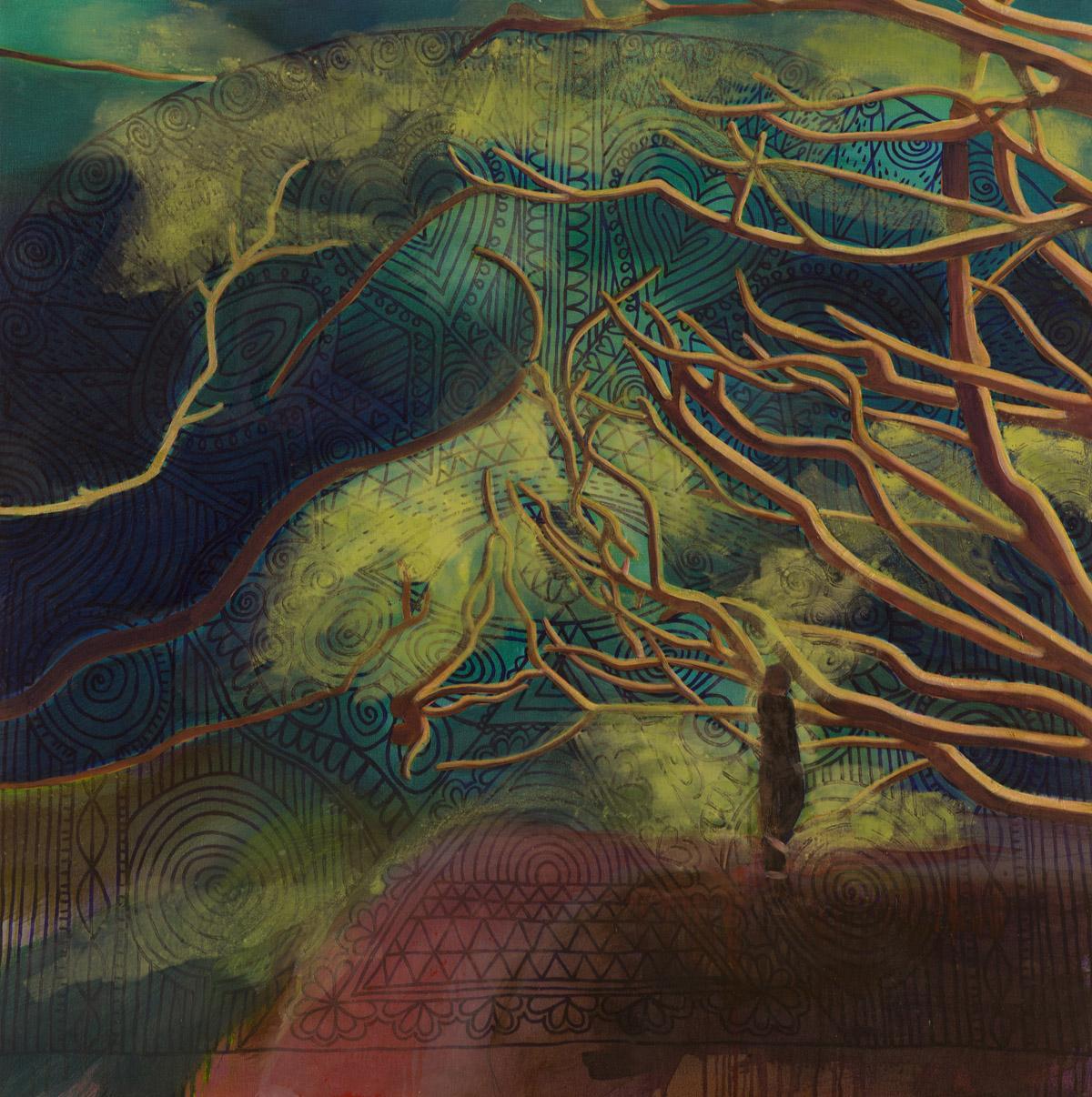 Werifesteria (The World)  2016 oil on canvas 100 x 100cm