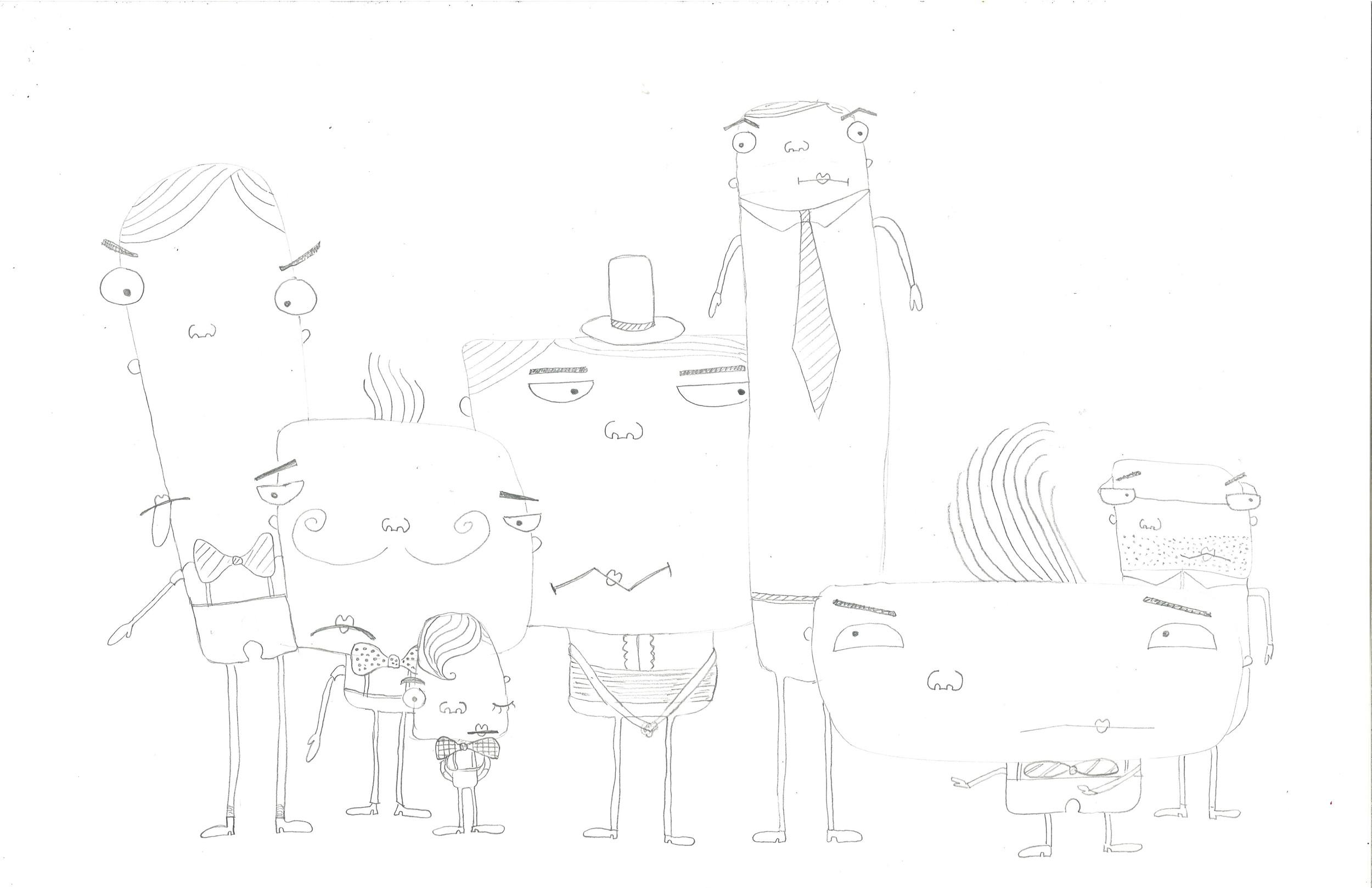 Band of grumpy men