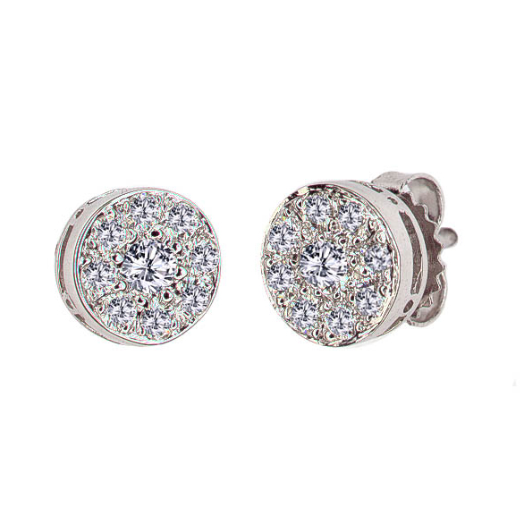 DIAMOND BUTTON EARRINGS