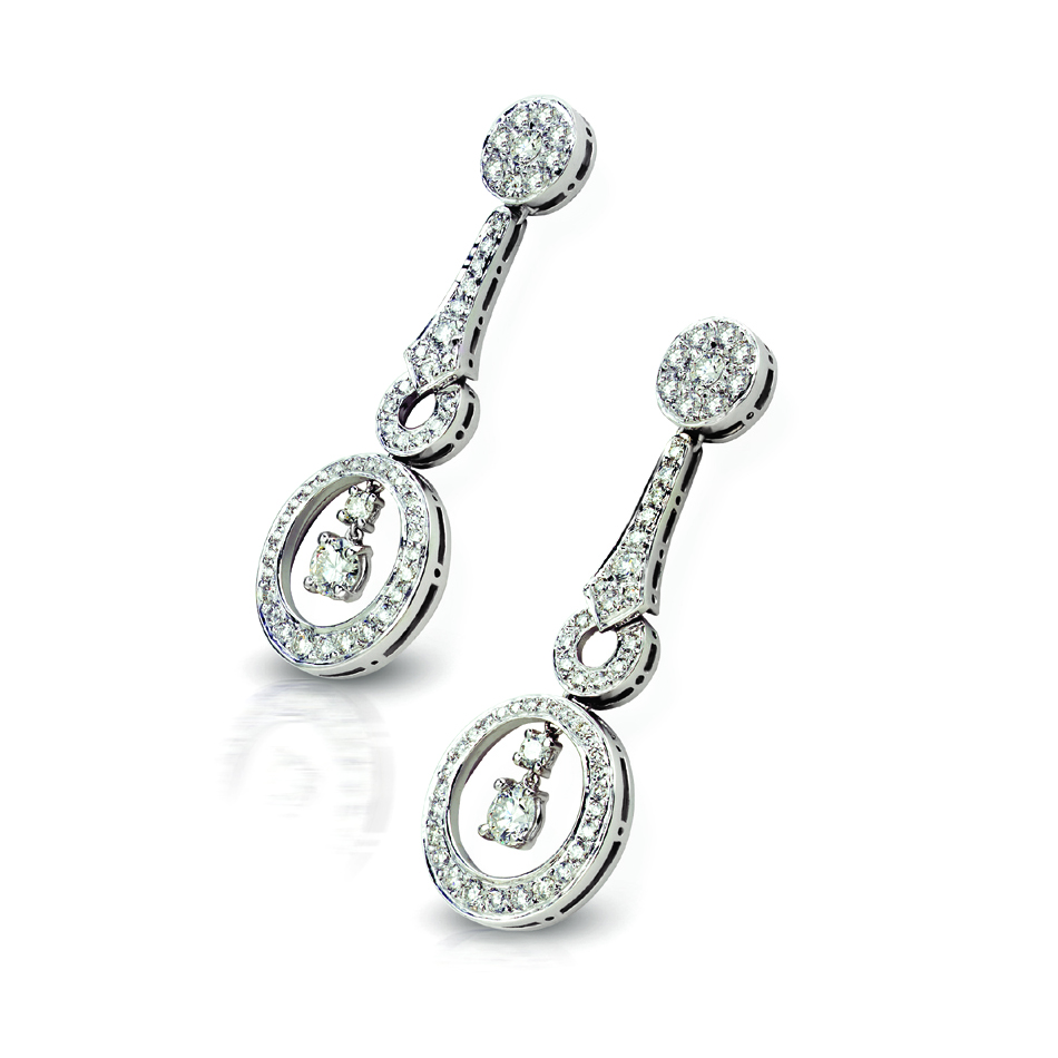 DIAMOND TOULOUSE EARRINGS