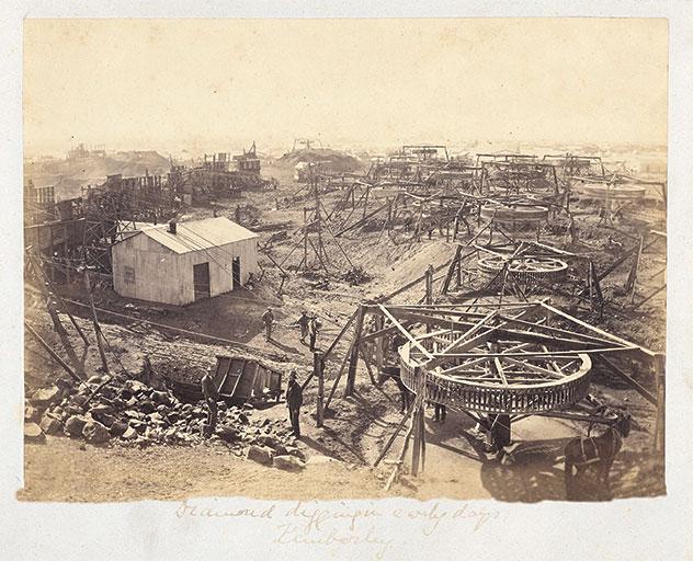 Early days,Codiam & Rand Alliance Diamond Mine - Kimberley, South Africa