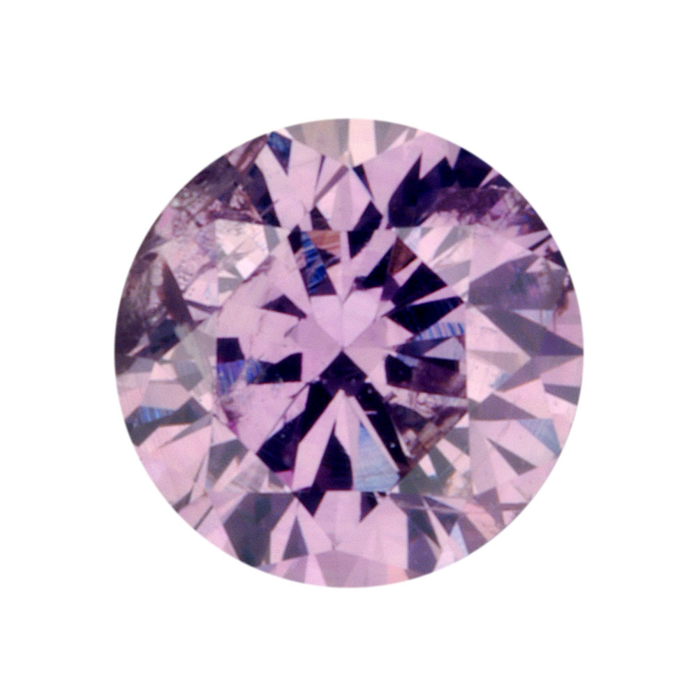 FANCY PINKISH PURPLE - ROUND BRILLIANT  LOOSE  CUT DIAMOND