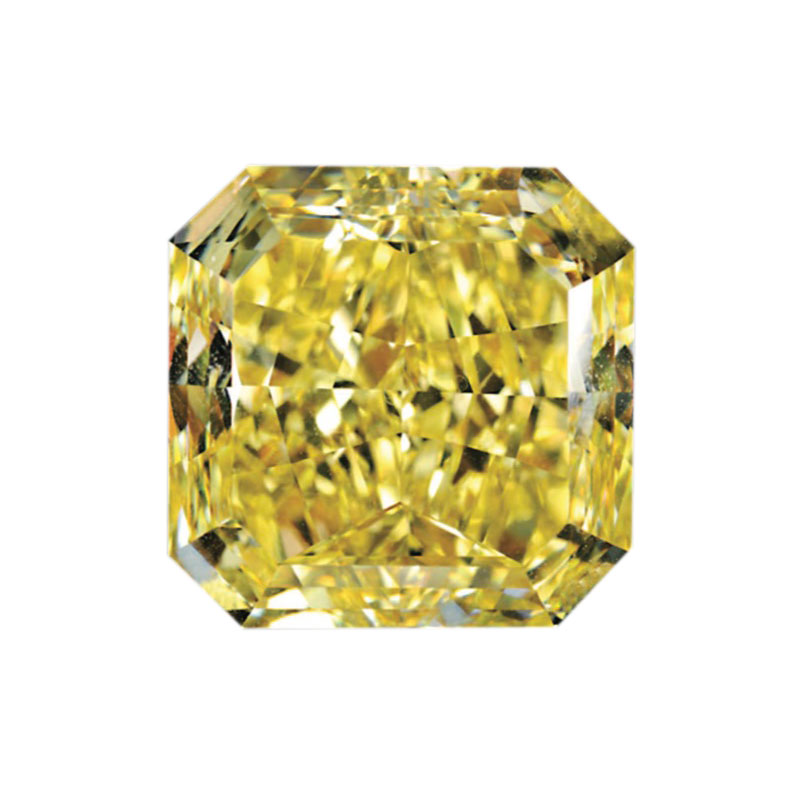FANCY INTENSE YELLOW - RADIANT CUT  LOOSE  DIAMOND