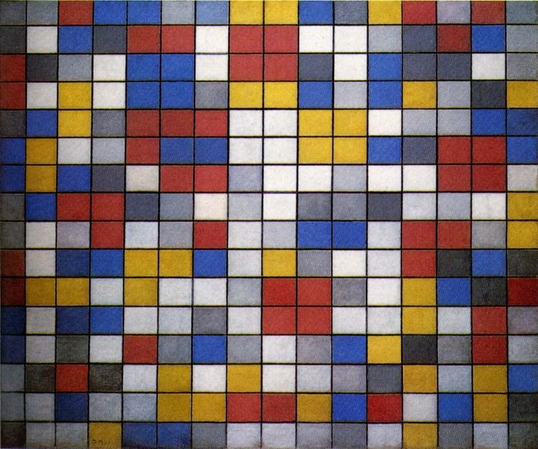 Piet Mondrian, Composition with Grid IX , 1919.