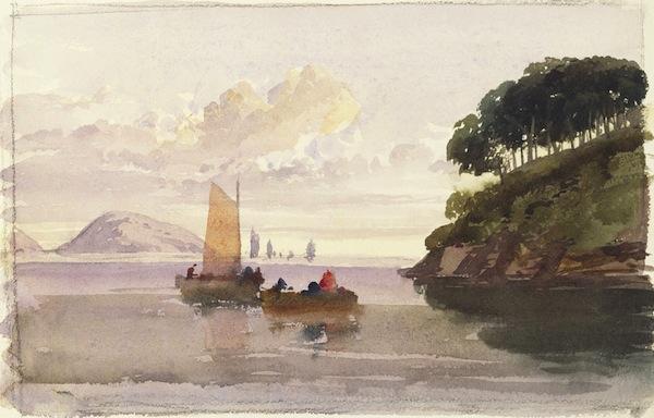 Watercolor Landscape by Queen Victoria