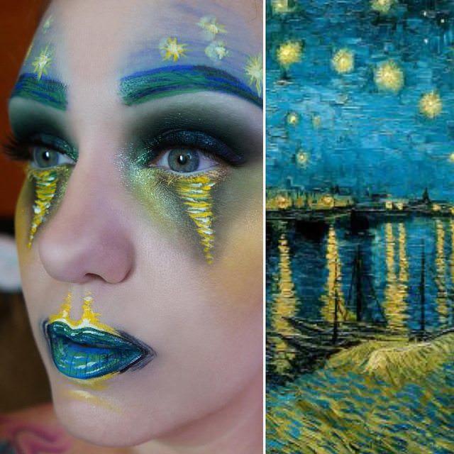 https://imgur.com/DlMUiSJ Inspired by Van Gogh's Starry Night Over the Rhone