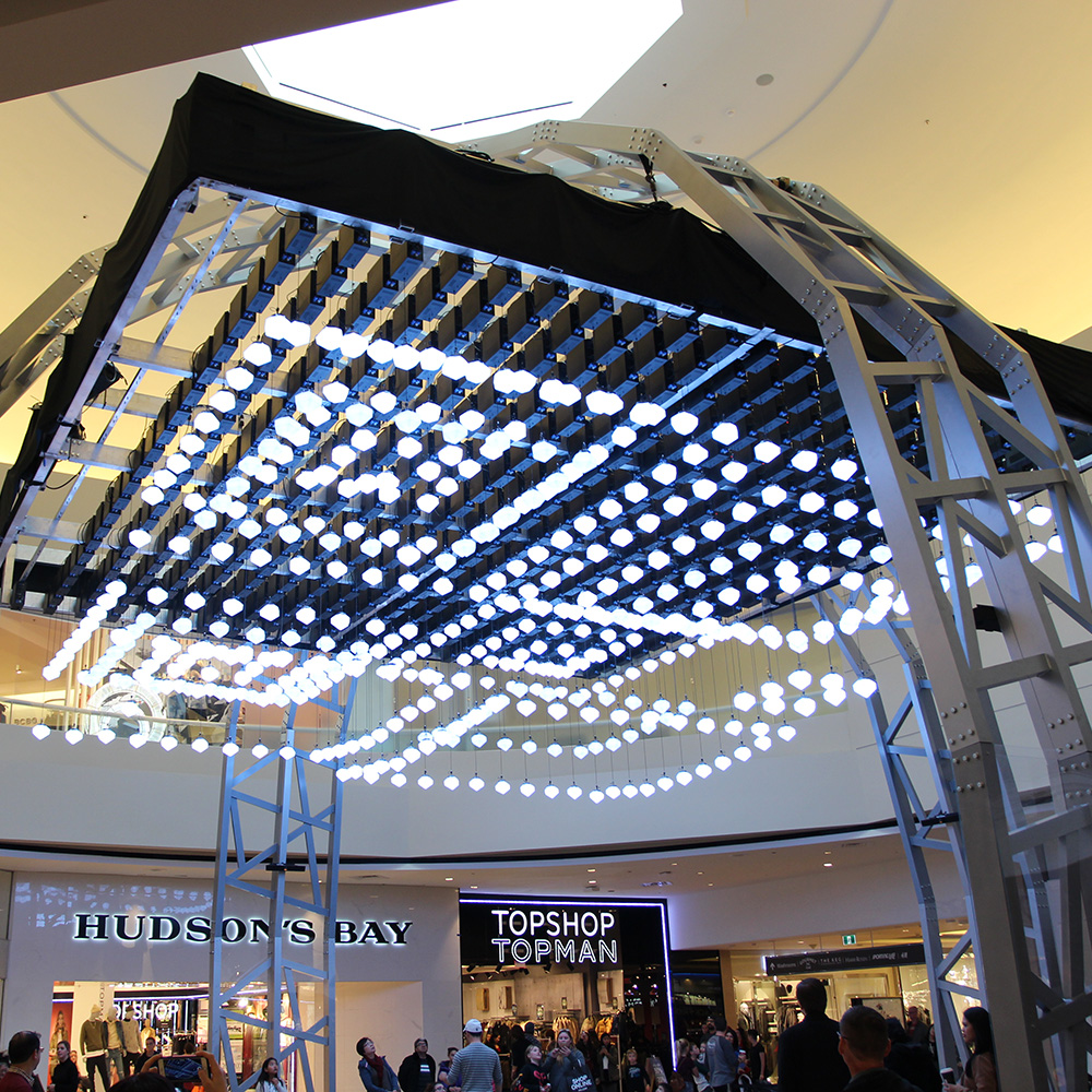 Kinetic Light Installation<strong>Cadillac Fairview</strong>