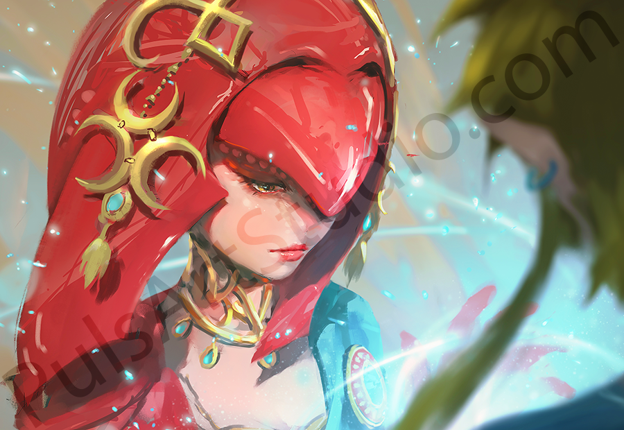 LoZ Breath of the Wild: Mipha (avail. as mat)