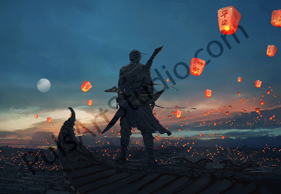Original: Sky Lanterns (avail. as mat)