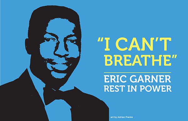 """From """"Suspicious Prism"""" Series, """"I Can't Breathe"""" Eric Garner, 2014."""