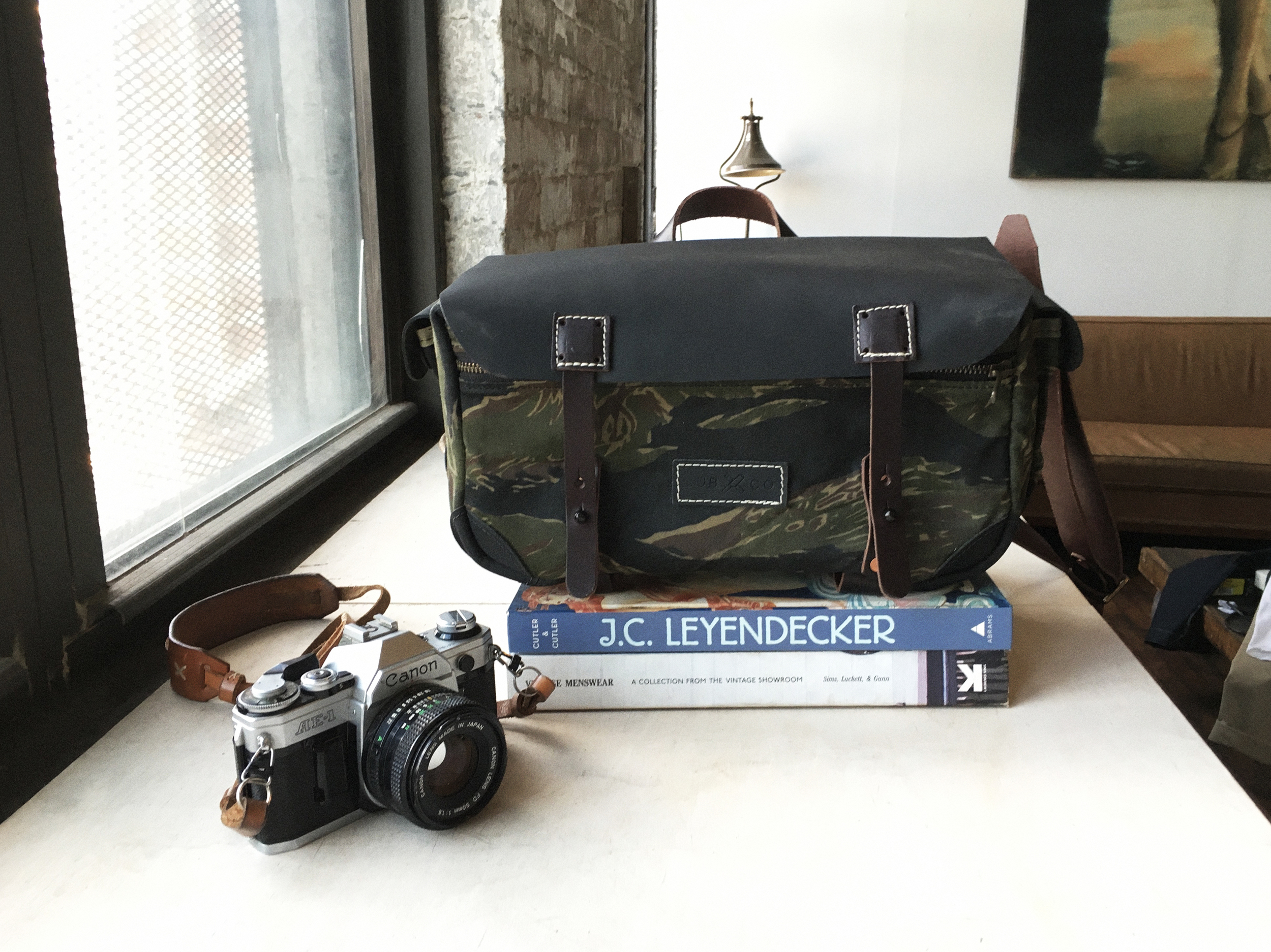 Kyle's last make: camera bags in collaboration with Cub and Co.